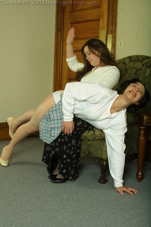 Pantyhose spankings