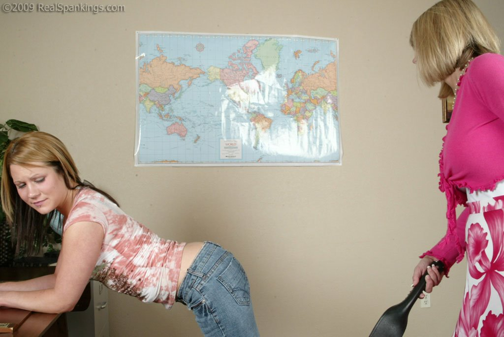 Real Spankings - Claire Is Strapped In Ms. Burns Office