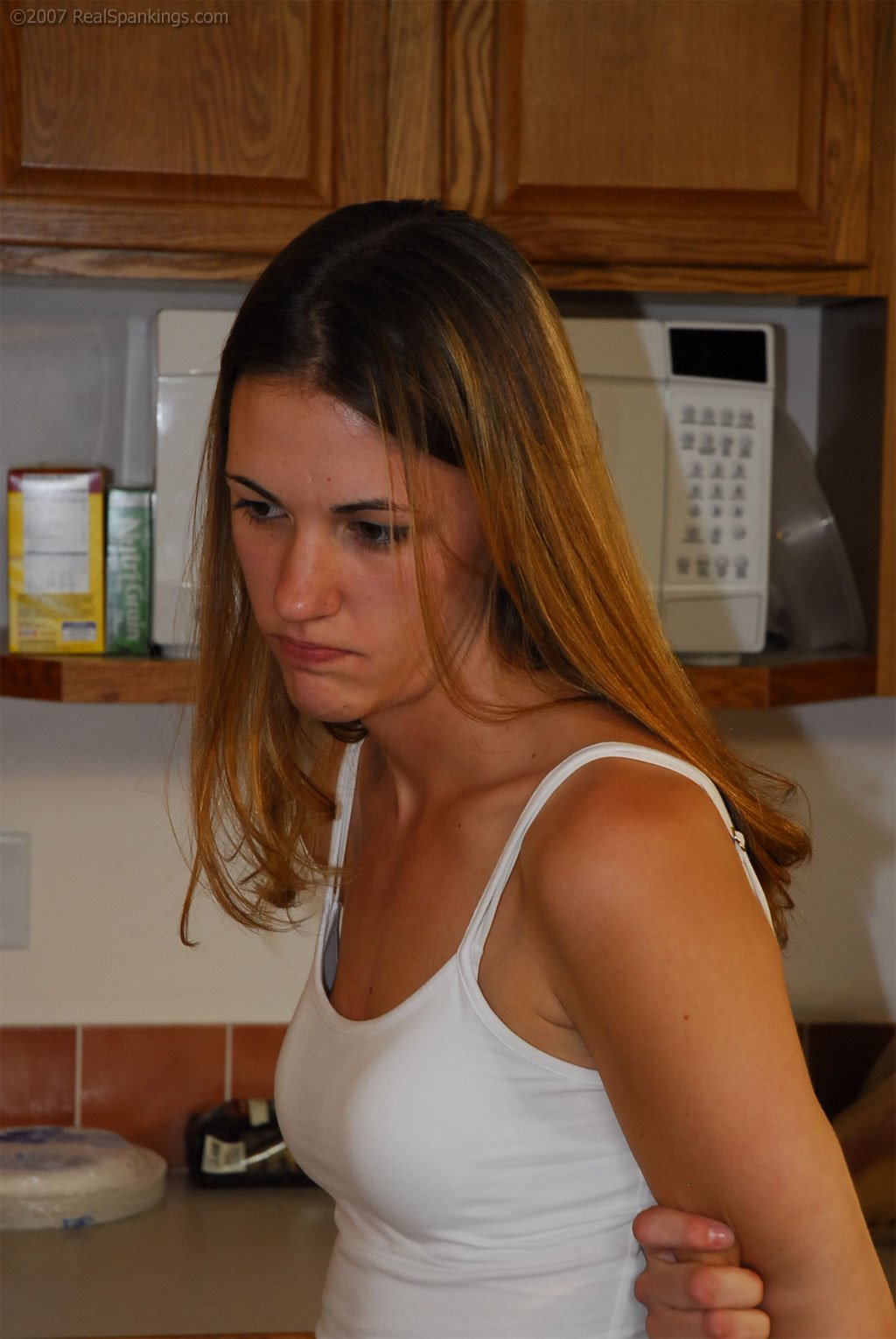 Real Spankings - Monica Is Spanked Hard By Mr. M In The