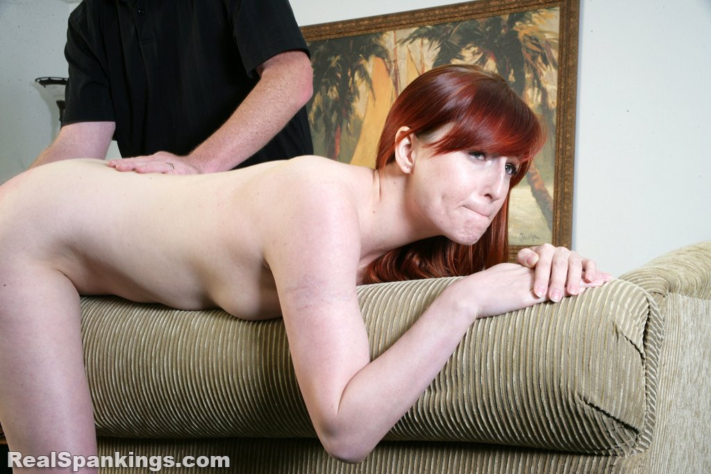 Real Spankings - Alyssas Fully Nude Straddled Hand -5001