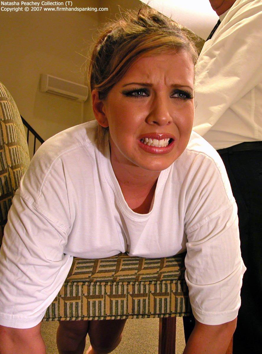 Firm Hand Spanking - Natasha Peachey - 03.08.2007 - Bare