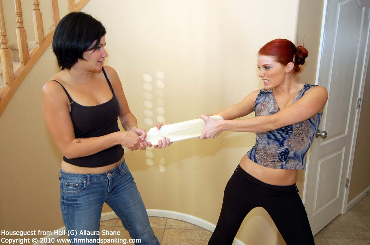 Firm Hand Spanking - Allaura Shane - Houseguest From Hell
