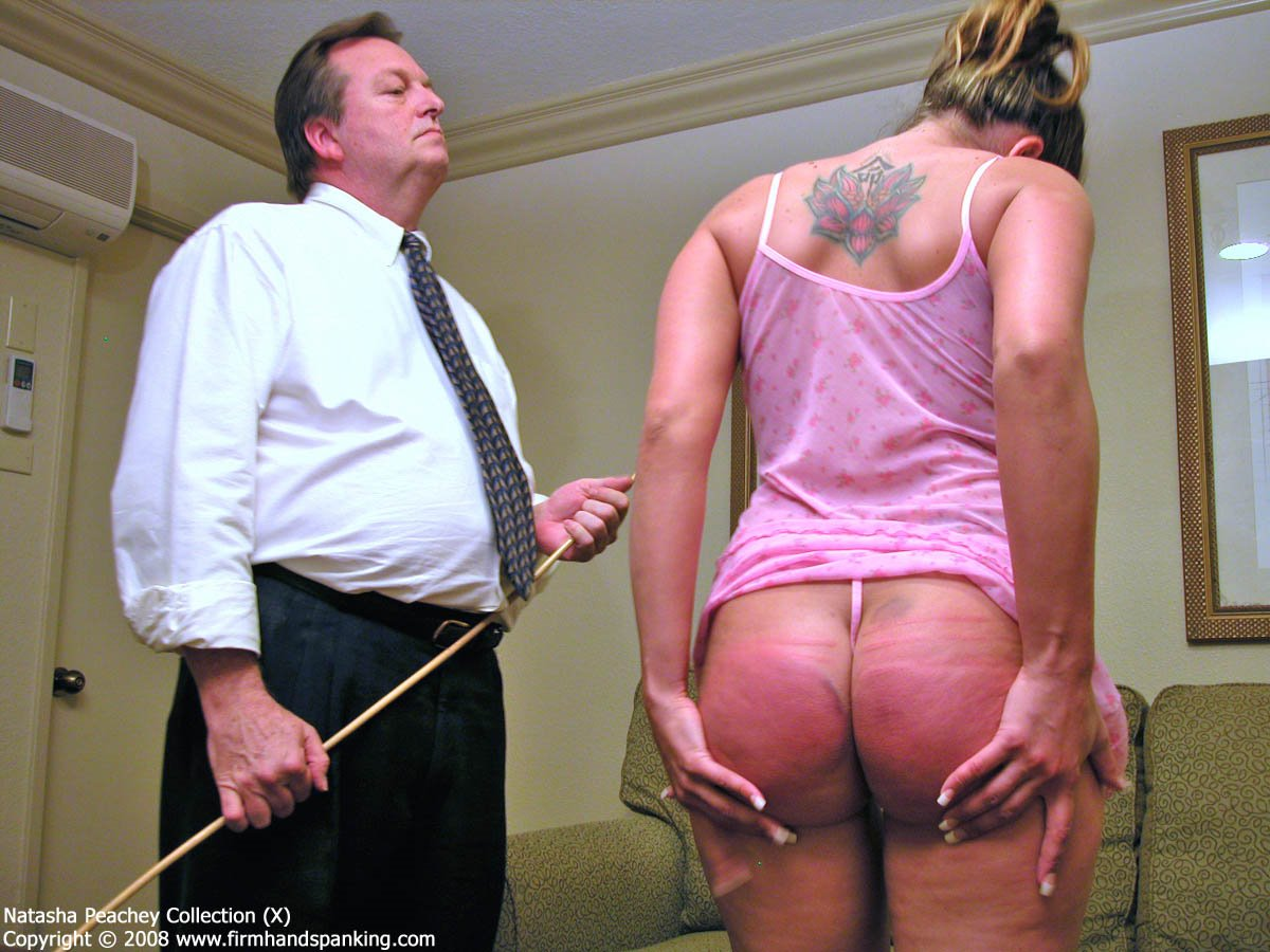 Sexy Mature Sandra Gets Her Big Bottom Spanked Caned Outdoors