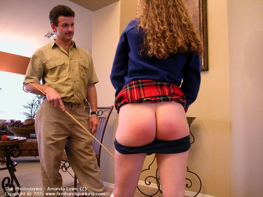 Mature Sandra Gets Her Big Bare Bottom Caned Picture