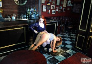 Spanking Veronica Works - Spanking In The Bar - image 1