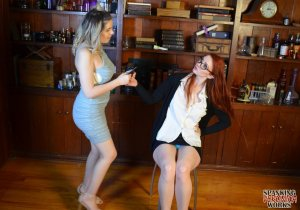 Spanking Veronica Works - Librarian Spanks Noisy Girl In Library - image 11