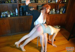 Spanking Veronica Works - Librarian Spanks Noisy Girl In Library - image 13