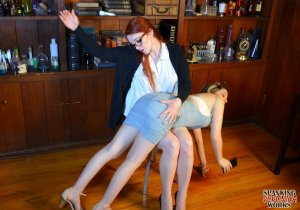 Spanking Veronica Works - Librarian Spanks Noisy Girl In Library - image 16