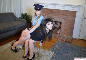 My Spanking Roommate - Kay And Elori Spanked For Jaywalking - image 3