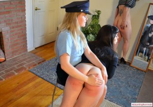 My Spanking Roommate - Kay And Elori Spanked For Jaywalking - image 7