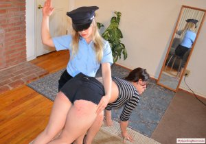 My Spanking Roommate - Kay And Elori Spanked For Jaywalking - image 6