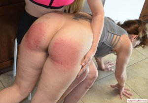 My Spanking Roommate - Harley Spanks Kay In The Kitchen - image 5