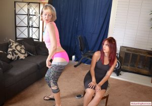 My Spanking Roommate - Clare's New Roommate Spanks Her - image 5