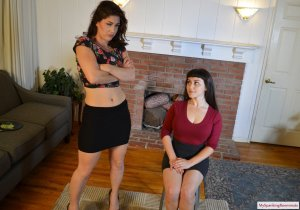 My Spanking Roommate - Elori Spanks Kay For Using Clothes - image 7