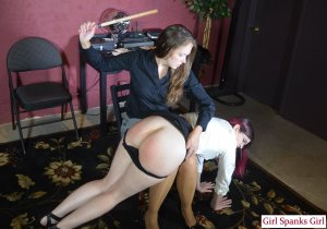 Girl Spanks Girl - Promotion From Spanking Part 2 - image 9