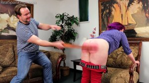 Real Spankings - Betty Is Punished For Lack Of Respect (part 2 Of 2) - image 2