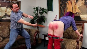 Real Spankings - Betty Is Punished For Lack Of Respect (part 2 Of 2) - image 7