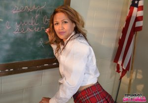 Spanked Call Girls - Veronica Spanks Joy In The Classroom - image 3