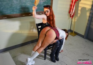 Spanked Call Girls - Veronica Spanks Joy In The Classroom - image 12