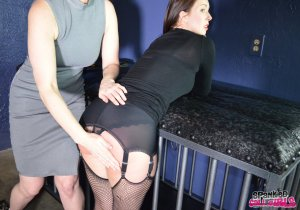 Spanked Call Girls - Snow Punishes Brat Amelie In Dungeon - image 6