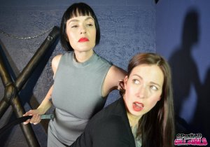 Spanked Call Girls - Snow Punishes Brat Amelie In Dungeon - image 9