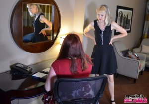 Spanked Call Girls - Madame Clare Spanks Her Secretary - image 5