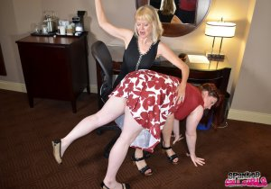 Spanked Call Girls - Madame Clare Spanks Her Secretary - image 6