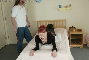 Real Spankings - Holly's Bedroom Strapping - image 12