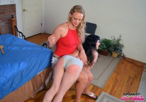 Spanked Call Girls - Elori Spanked For Fudging - image 5