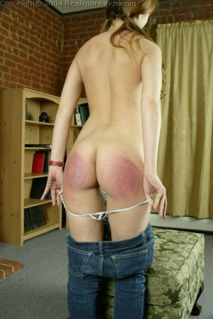 Real Spankings - Michelle Spanked For Not Wearing A Bra - image 7