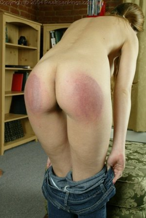 Real Spankings - Michelle Spanked For Not Wearing A Bra - image 16