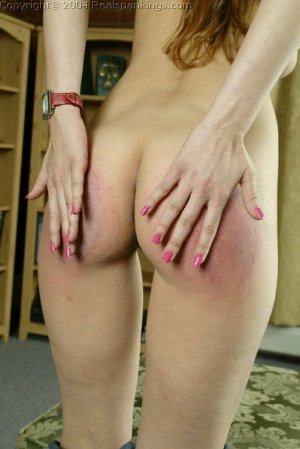 Real Spankings - Michelle Spanked For Not Wearing A Bra - image 2