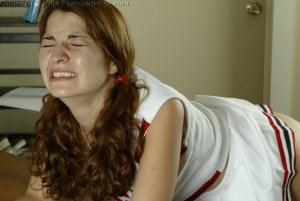 Real Spankings - Michelle's Cheerleader Paddling - image 6