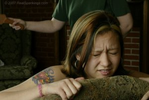 Real Spankings - Kim's Bare Breasted Spanking - image 6