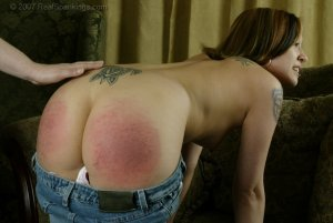Real Spankings - Kim's Bare Breasted Spanking - image 12