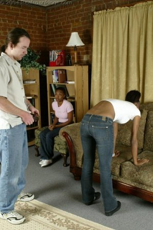 Real Spankings - Roxanne And Becky's Meeting With The Belt - image 2