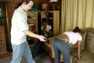 Real Spankings - Roxanne And Becky's Meeting With The Belt - image 9