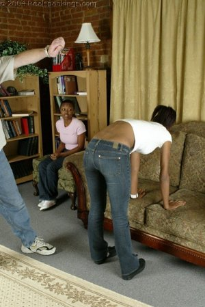 Real Spankings - Roxanne And Becky's Meeting With The Belt - image 11