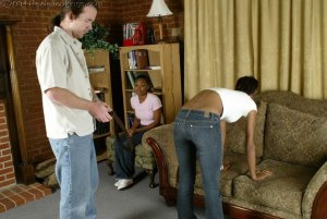 Real Spankings - Roxanne And Becky's Meeting With The Belt - image 12