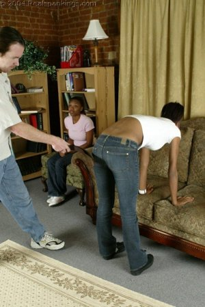 Real Spankings - Roxanne And Becky's Meeting With The Belt - image 3