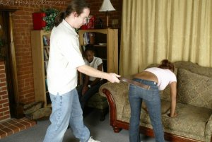 Real Spankings - Roxanne And Becky's Meeting With The Belt - image 8