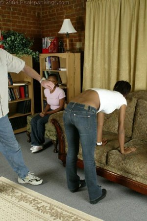 Real Spankings - Roxanne And Becky's Meeting With The Belt - image 4