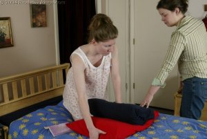 Real Spankings - Kathy Spanked By Lady D Pt. 2 - image 1