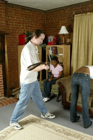 Real Spankings - Roxanne And Becky's Meeting With The Belt - image 17