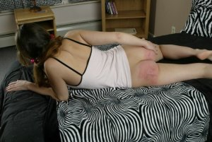 Real Spankings - Michelle Spanked With A Belt - image 15