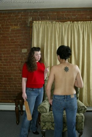 Real Spankings - Jessie's Bare Breast Strapping - image 4