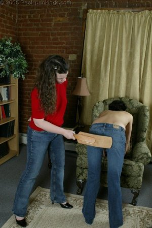 Real Spankings - Jessie's Bare Breast Strapping - image 7