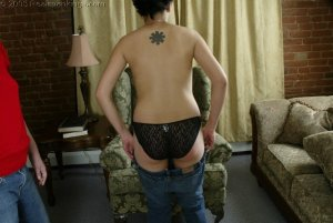 Real Spankings - Jessie's Bare Breast Strapping - image 14