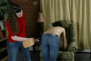Real Spankings - Jessie's Bare Breast Strapping - image 18