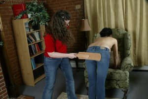 Real Spankings - Jessie's Bare Breast Strapping - image 13